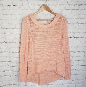 Rip Curl Beach Sweater Peach Loose Knit Cover-Up